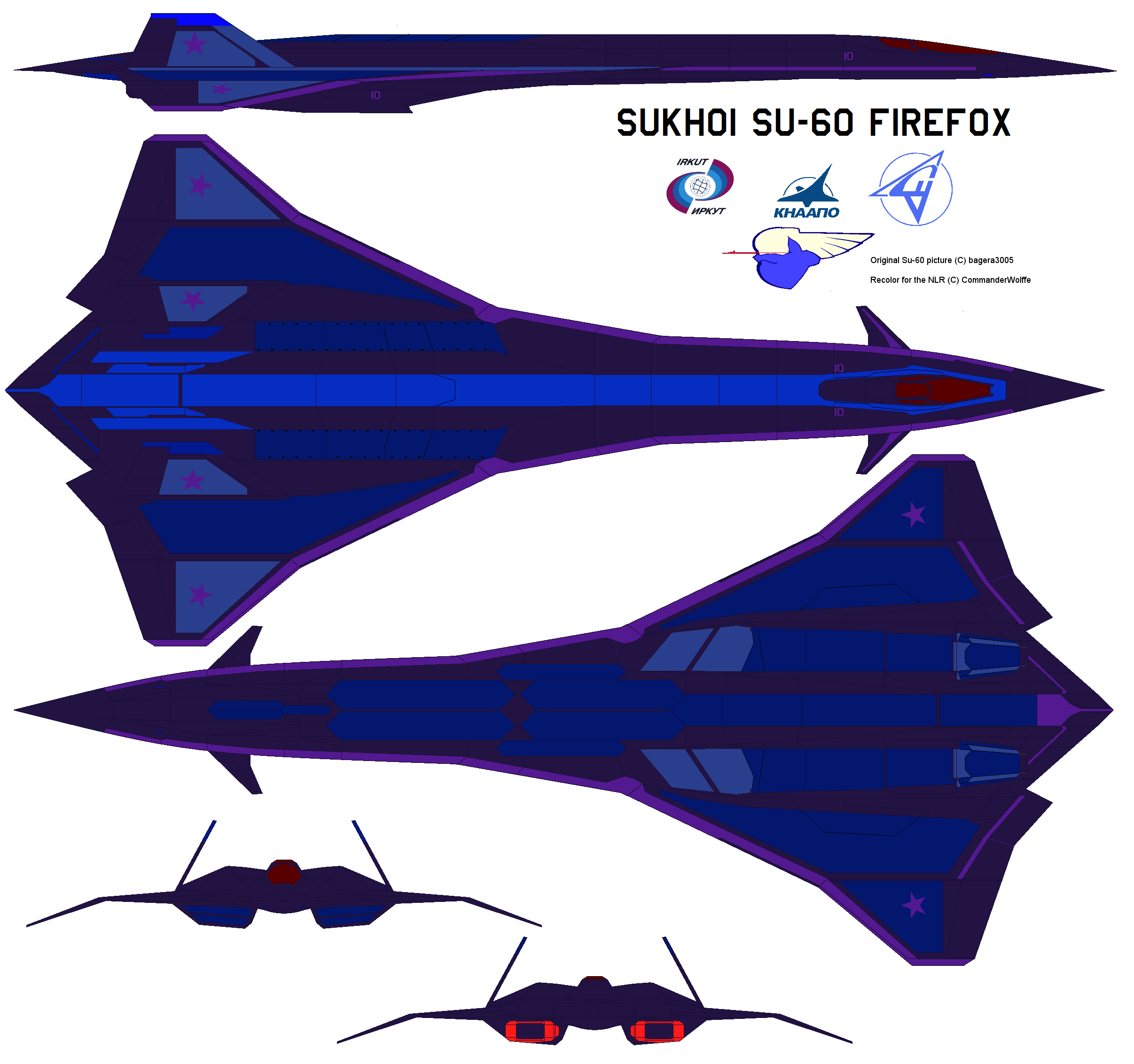 Nlr Su 60 Firefox Supersonic Fighter Bomber By