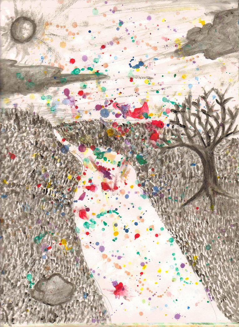 Dark Splatter Path by maggy803