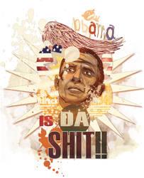 Obama illustration by belbael