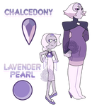 Chalcedony and Lavender Pearl