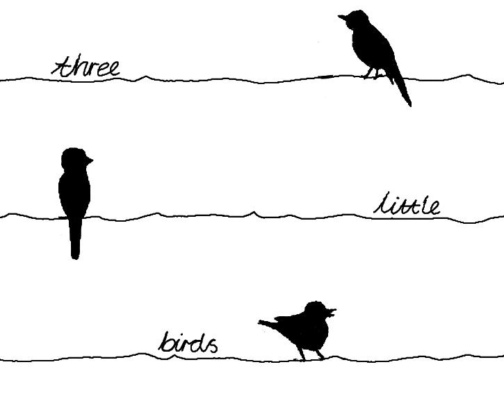 Bob marley three little birds drawing