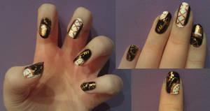 Steampunk Nail Art by KaleidoscopeEyes97