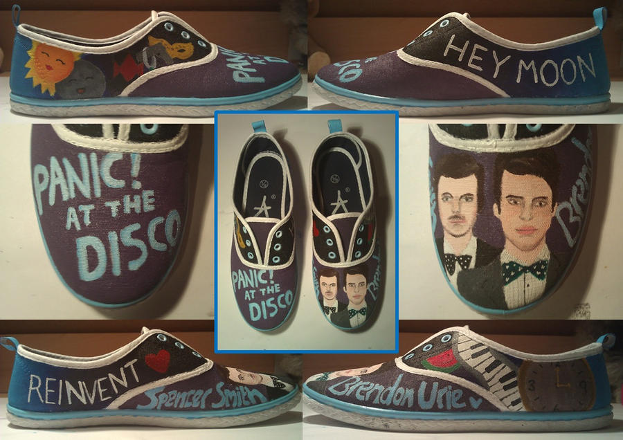 Panic At The Disco Shoes by KaleidoscopeEyes97