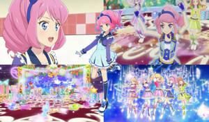 Aikatsu! Stars: Laura Sakuraba Collage (S2,Ep37)