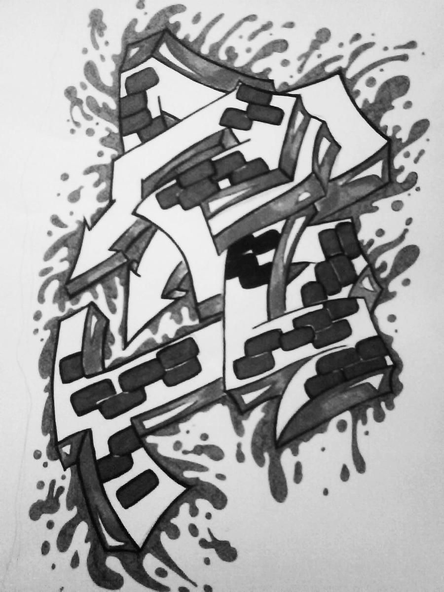 graffiti, black and white by kat-peoples on DeviantArt