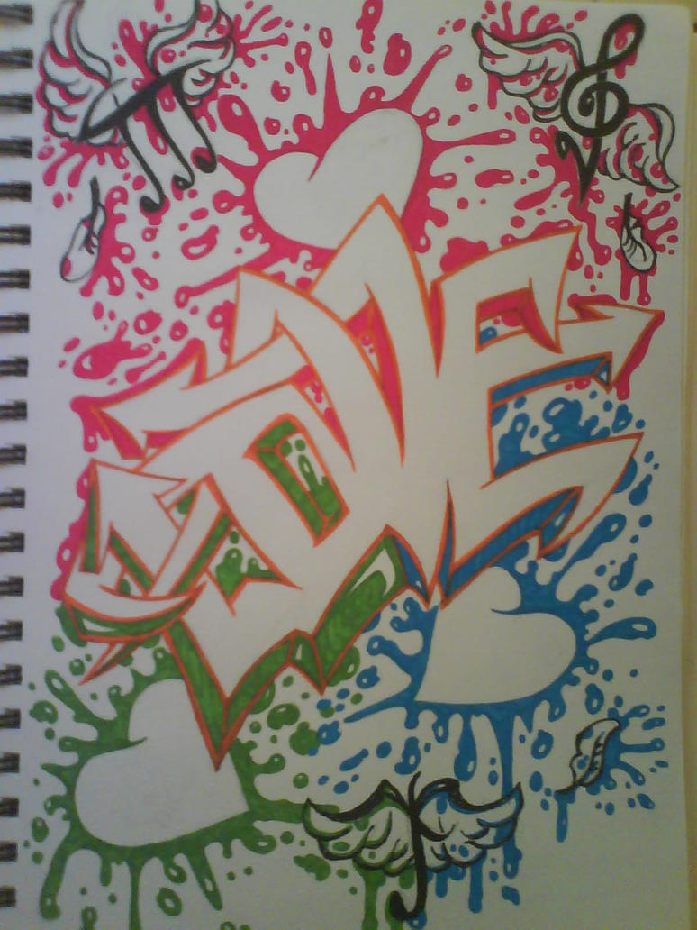 graffiti, love. by kat-peoples on DeviantArt