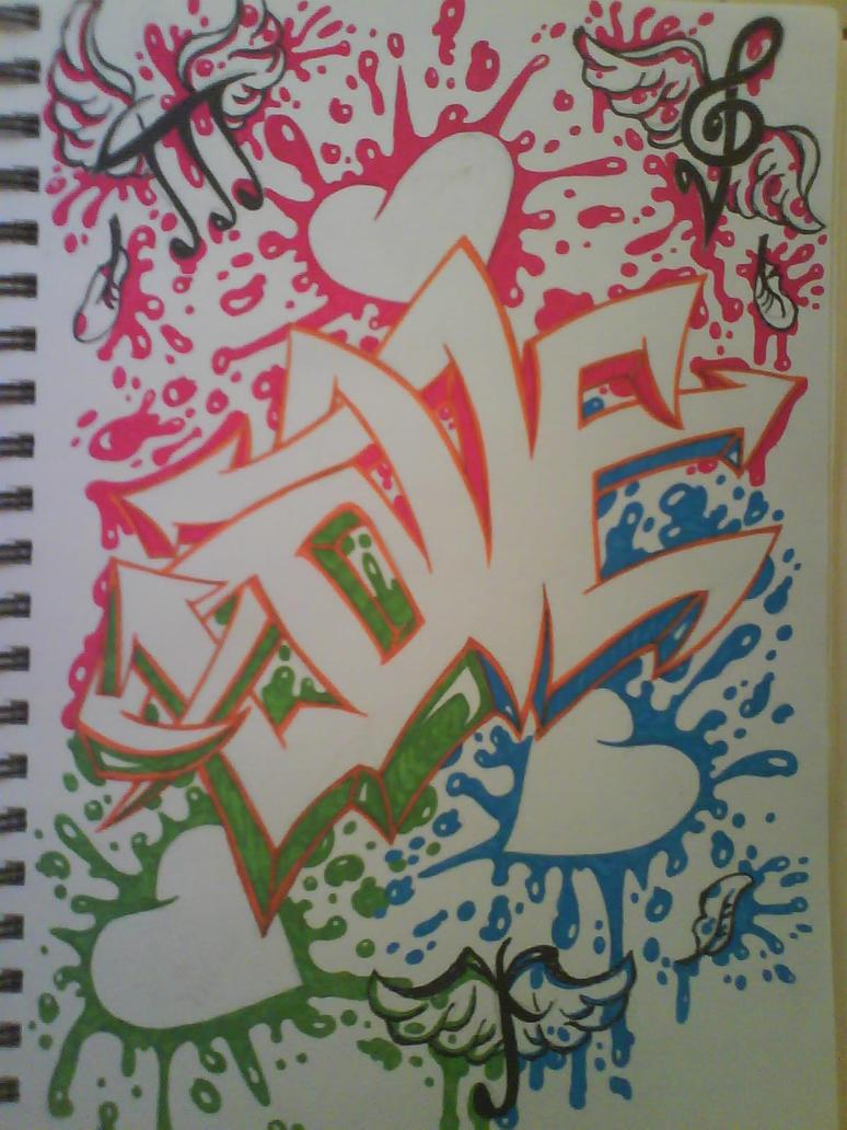 Love Graffiti Sketches Graffiti Love by Kat Peoples
