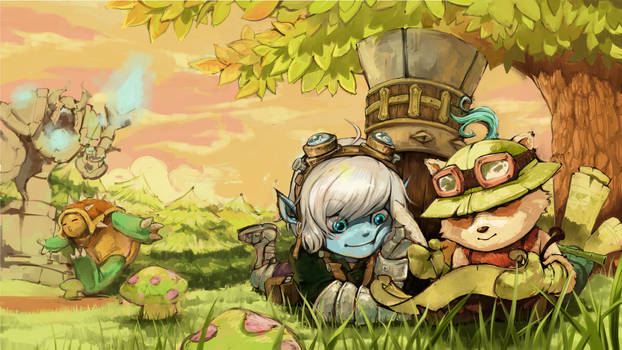League of Legends Teemo and Trist Wallpaper
