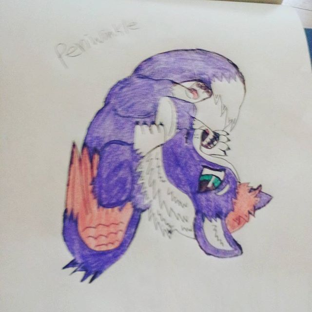 Periwinkle The Angel Wolf by EchoFallonFuzzbutt24