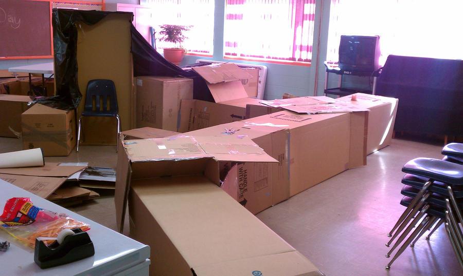how to make a cardboard maze