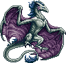 Silver Wyvern Female sprite by Edo-Wonka