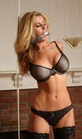 Sexy Girl Tied Up In Underwear