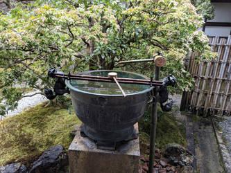 Japanese garden well