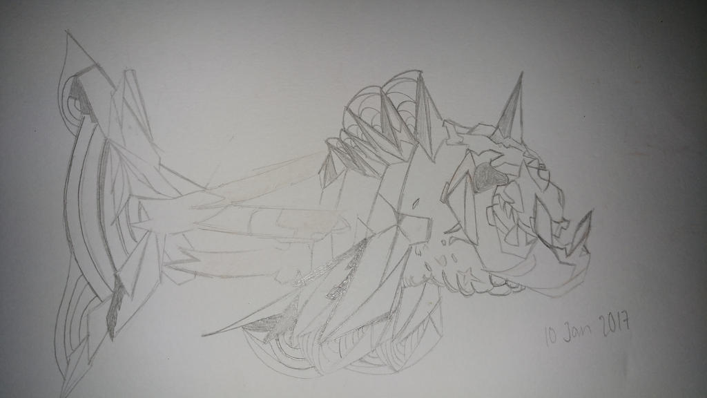 Sketch : The deep blue monster by Tridoe