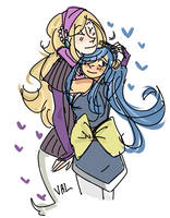Big Hug Tiny Girlfriend by Nerdlrd