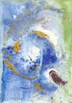 abstract rain: yellow spiral