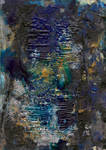 abstract rain: murky sky, rain drizzle