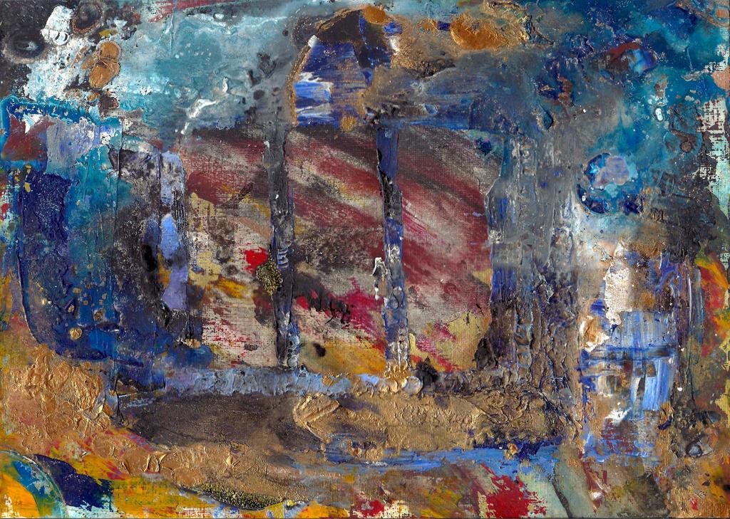 abstract rain: my window by kyri-IS-dark
