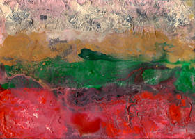 abstract rain: between red ground and pink sky
