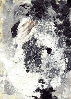 abstract rain: dark yogurt