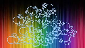 Rainbow Yoshi Backround