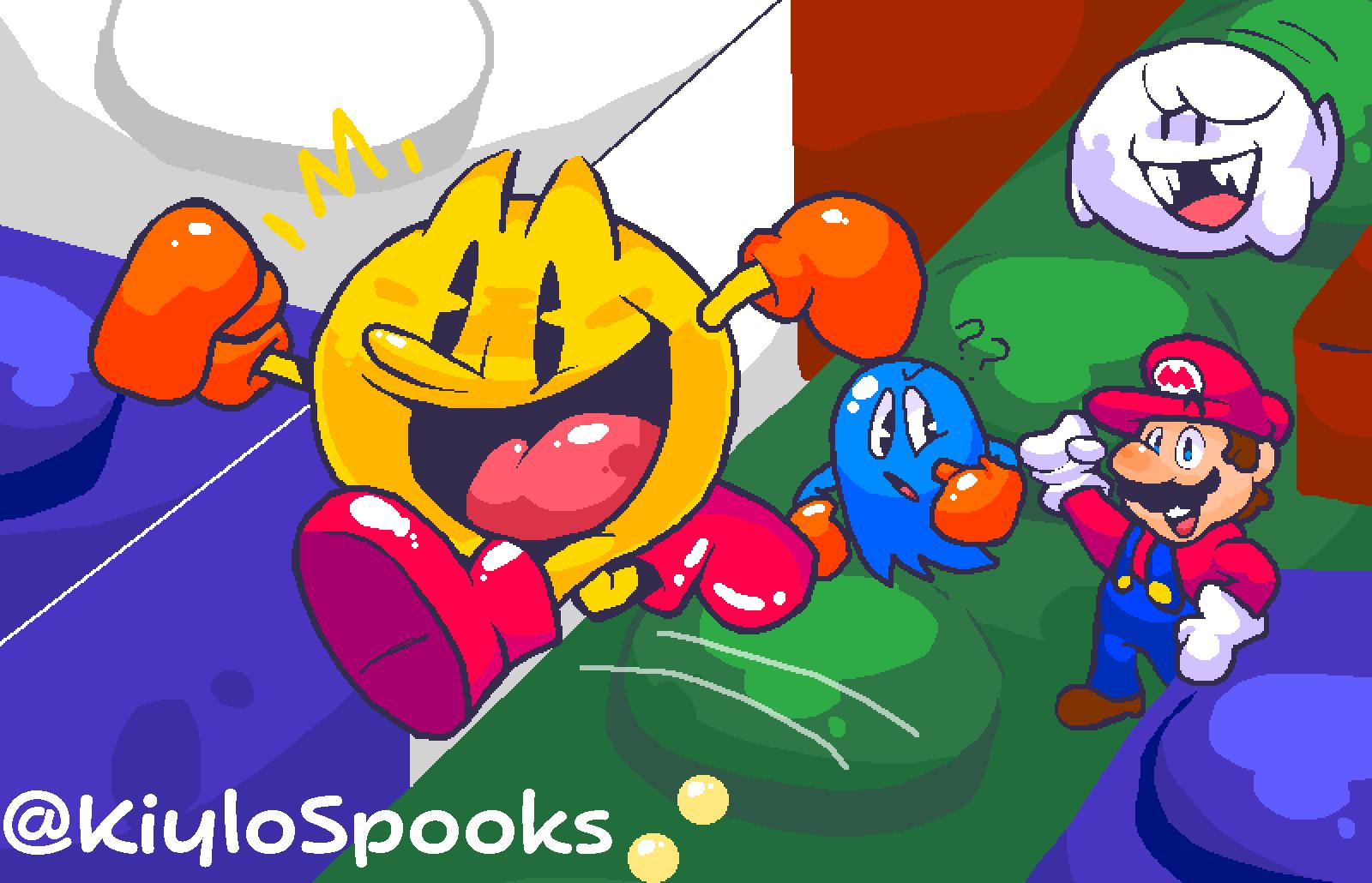 Pac-mania Mario combo