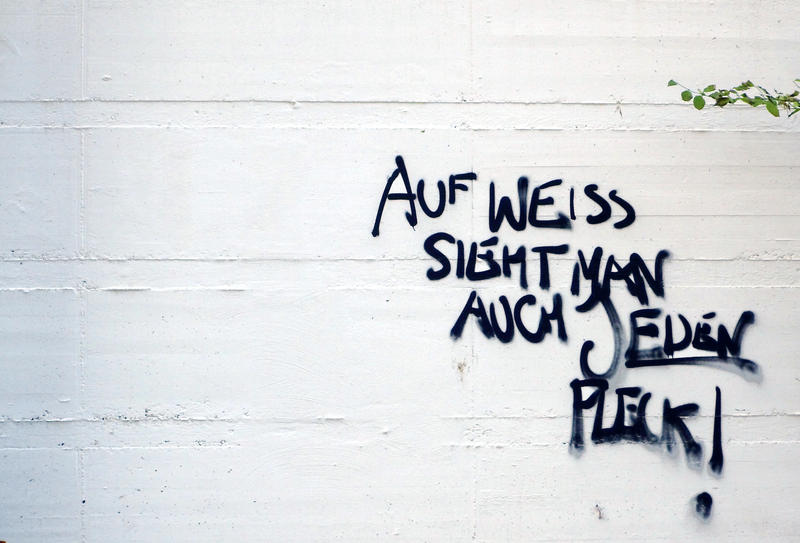 Urban Wisdom On Freshly Painted Wall by tinileen