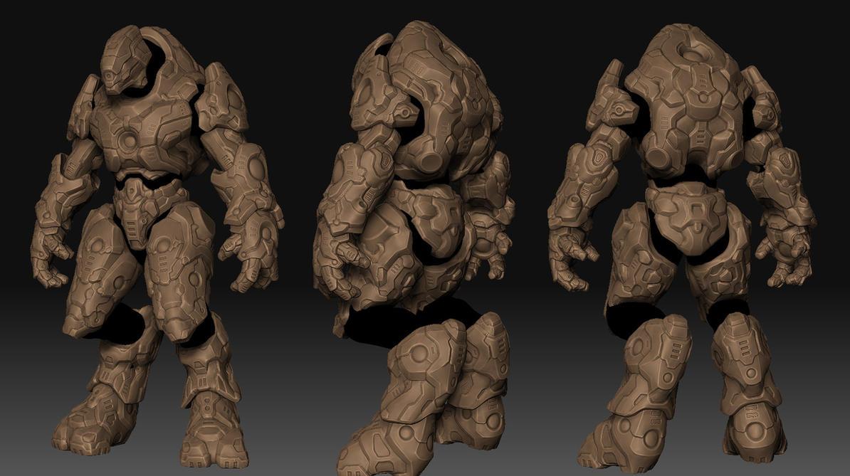 Finished Sculpt - Tank Elite by MikeJensen