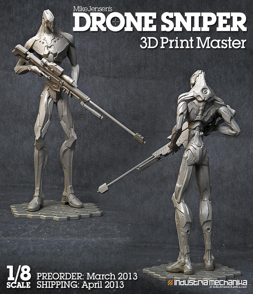 Drone 04 Statue! by MikeJensen
