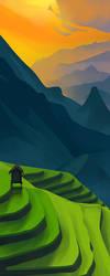 Landscape Color Study Original by MikeJensen