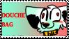 Douchebag Stamp by CrazyZombieCat