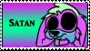 Satan stamp by CrazyZombieCat