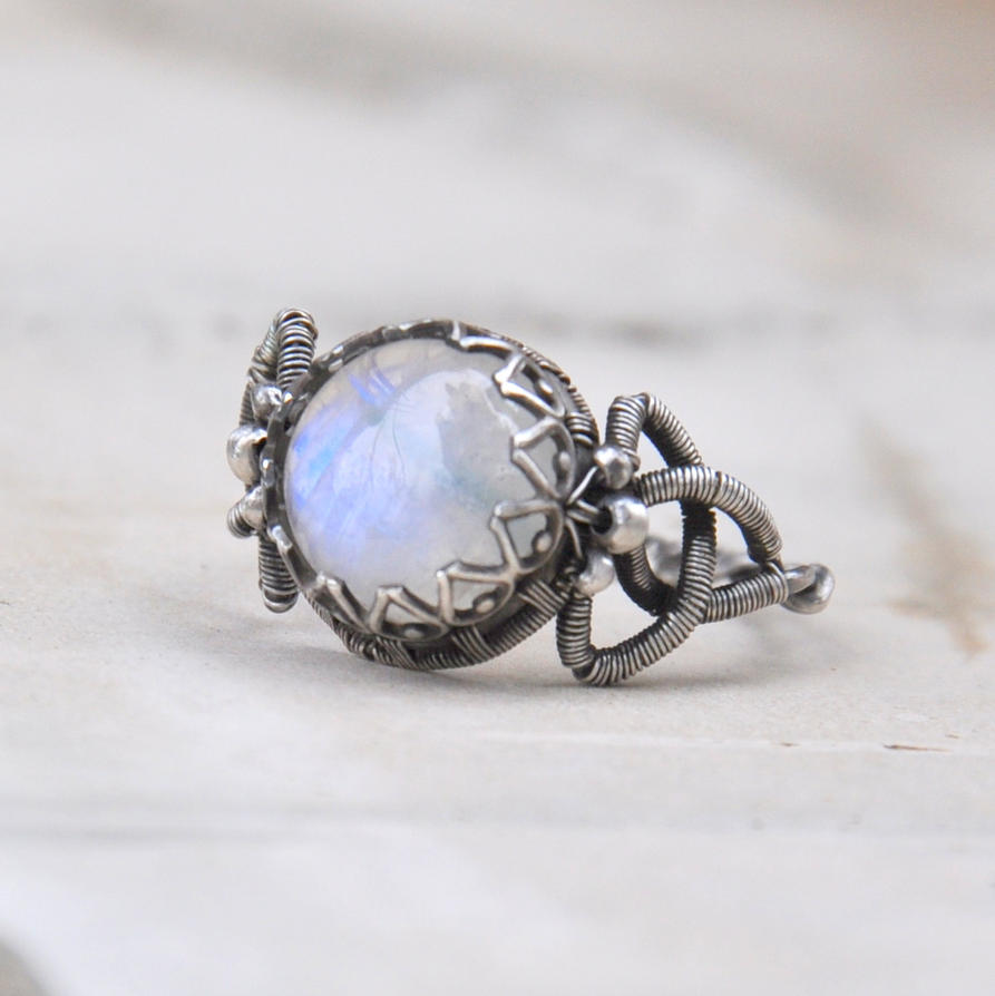 Celtic moon - wire-wrapped ring by Eire-handmade on DeviantArt