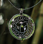 Oak Grove - Celtic Fantasy Wire-wrapped necklace by Eire-handmade