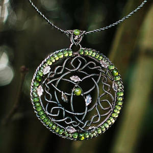 Oak Grove - Celtic Fantasy Wire-wrapped necklace