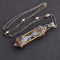 Kitsune - Sterling Silver Hourglass Pendant