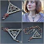 Edain - Sterling Silver Garnet Necklace by Eire-handmade