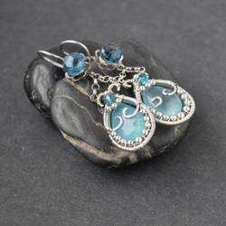 Old love: Cailleach - Winter Goddess Earrings by Eire-handmade