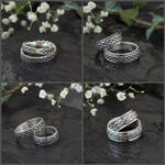 Fantasy Wedding Bands collection by Eire-handmade