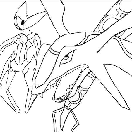 deoxys coloring pages - rayquaza and deoxys by agentmaryland93 on deviantart