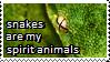 Snake spirit animal Stamp