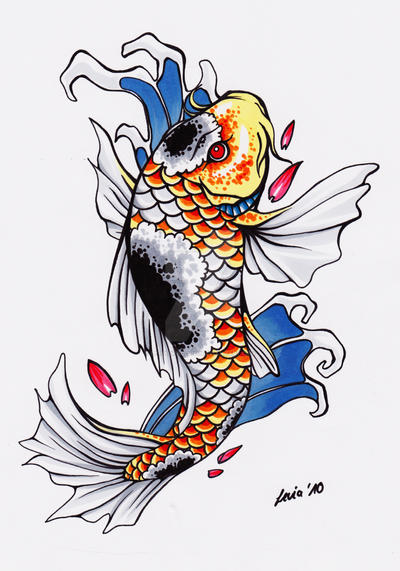 Koi Tattoo Design by LeviaDraconia