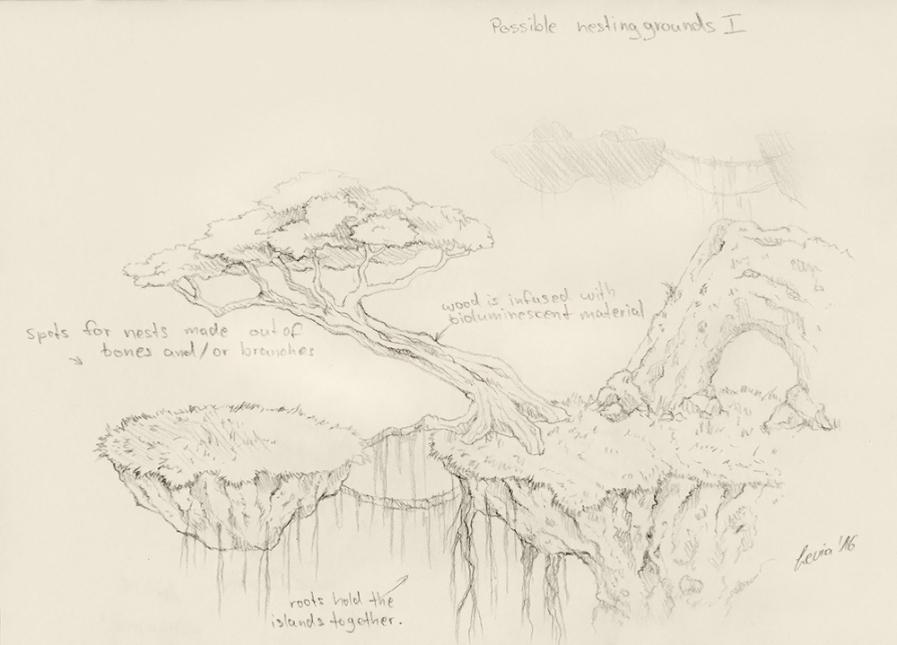 Nesting Grounds I Sketch by LeviaDraconia