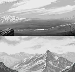 Draconia - Landscape doodles by LeviaDraconia