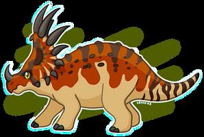 Styracosaurus Design by LeviaDraconia