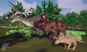 The Archotek Project - Ceratopsians by LeviaDraconia