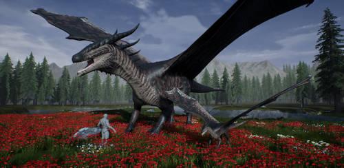 WIP European Dragon by LeviaDraconia