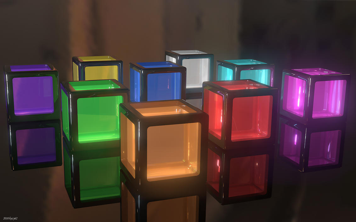 Glass Cubes wallpaper > 3d Papel de parede > 3d Fondos