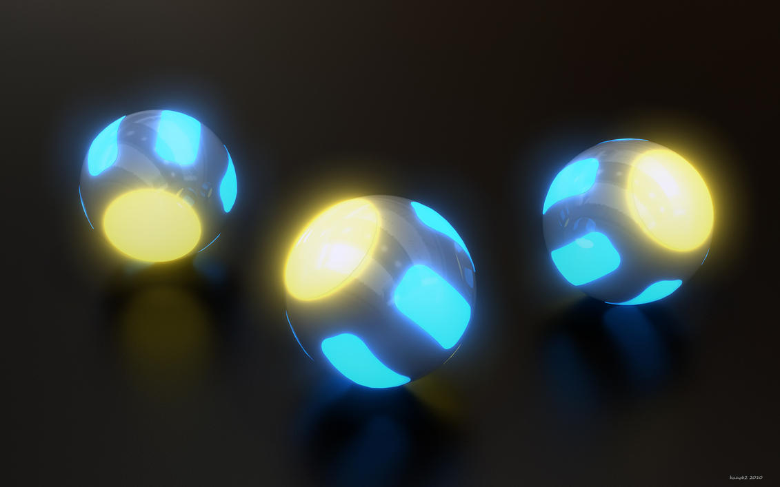 Glowing Ballz by kuzy62