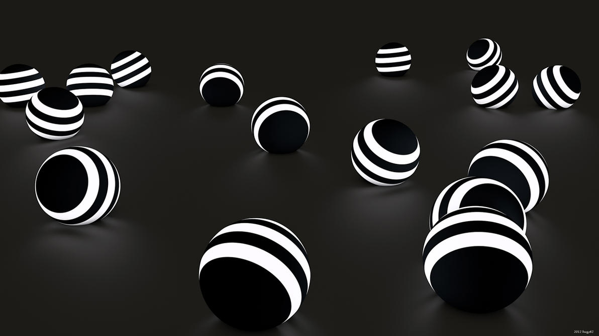 Lighted Spheres by kuzy62
